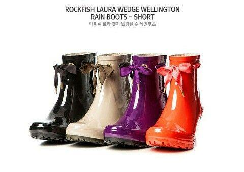Rockfish laura wedge short rainboots 락피쉬 로라 웻지 숏 레인부츠