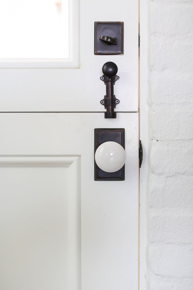 Dutch Door Hardware. Door Hardware is Emtek ceramic door handles ...
