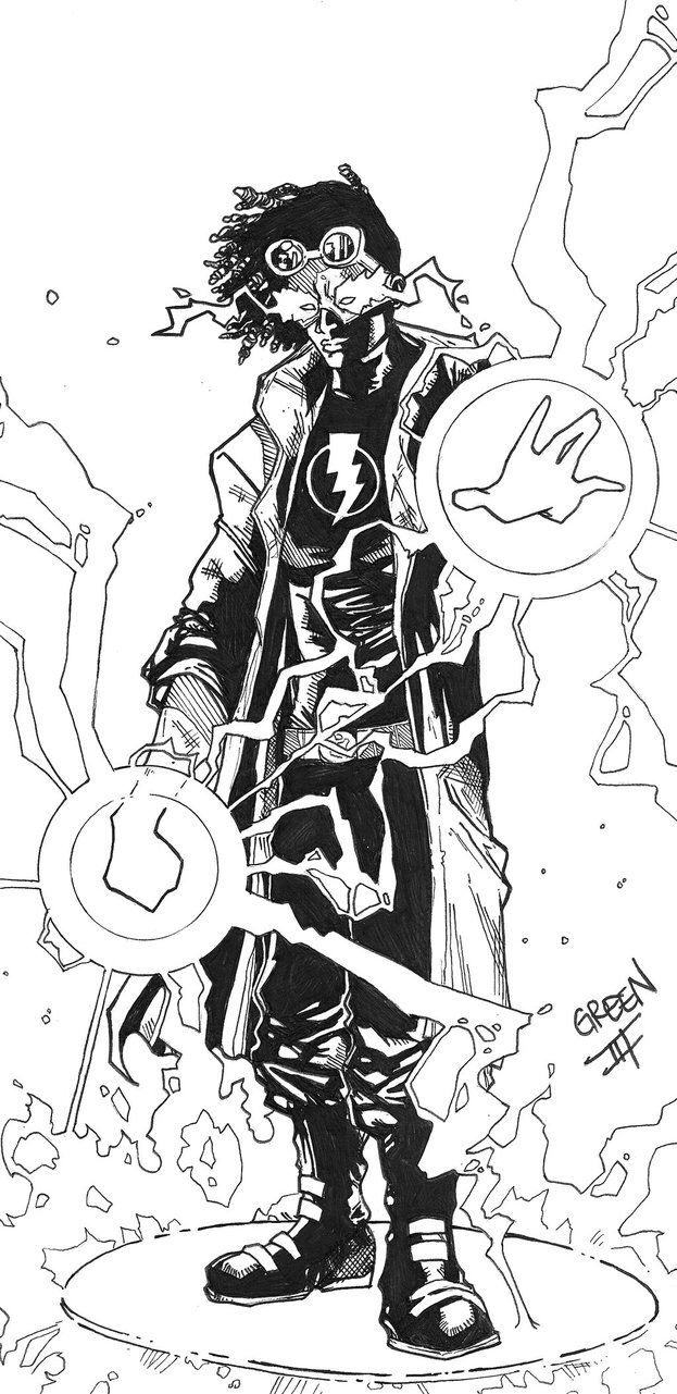 static shock coloring pages | Static Shock | My Black Heroes | Desenho do super choque ...