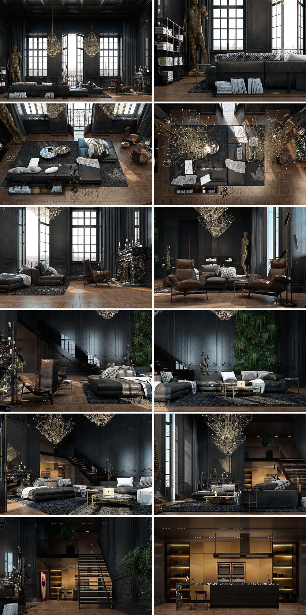 Paris_apartment. / luxuriöse Einrichtung eines Apartments im historischen Kerns Paris / Виталий Юров / Iryna Dzhemesiuk #apartmentsinnice