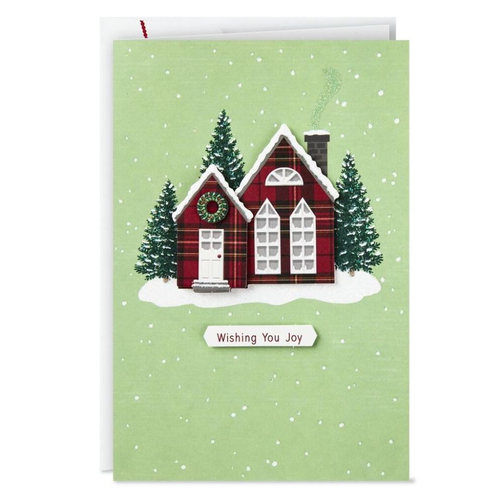 Charming Plaid Cottage Christmas Cards Box Of 12 Boxed Cards Hallmark Scrapbook Christmas Cards Christmas Cards Handmade Hallmark Christmas Cards