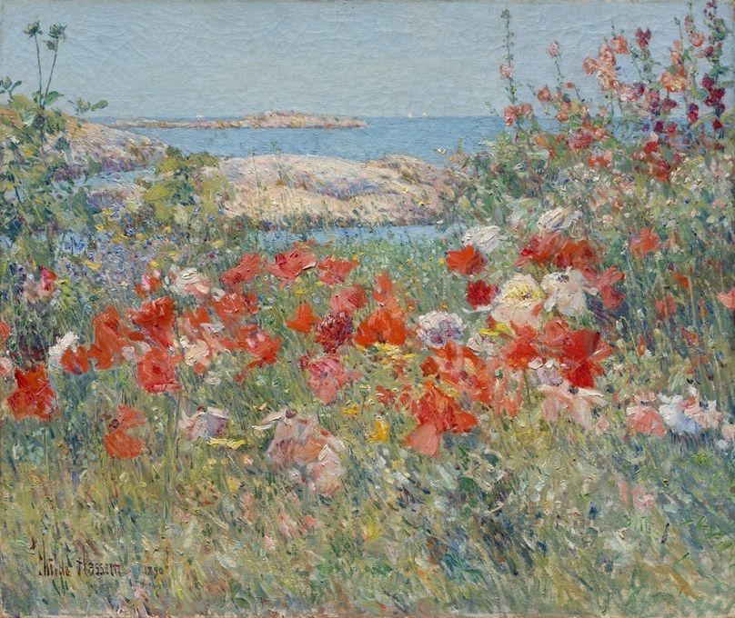 Celia Thaxter's Garden, Isles of Shoals, Maine~Childe Hassam