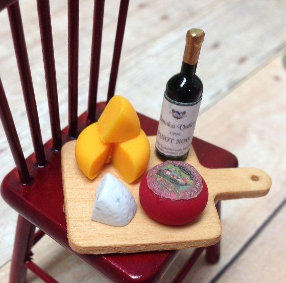Dollhouse Miniatures Handmade Gouda Cheese Wheel Food 4