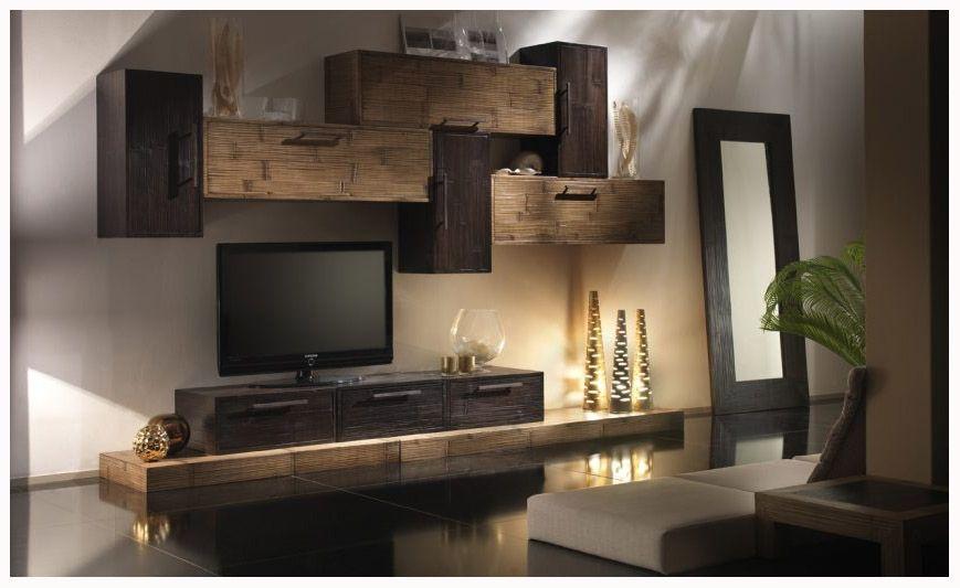 soggiorno moderno legno crash bambu noce e miele in offerta outlet ...
