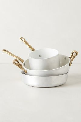 1932 BERGAMO COOKWARE from Anthropologie-I need more cookware like I need a hole in the head. This is just too pretty