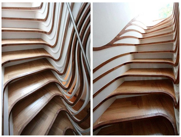 Best Gorgeously Innovative Staircases Staircase Design 400 x 300