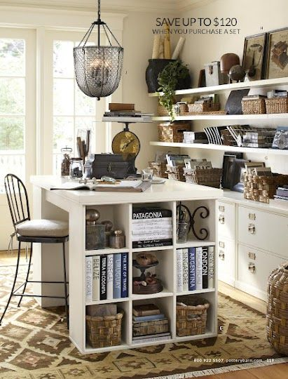 Pottery Barn Bedford Home Office Modular Desk Components   Project Table  Top And Bookcases