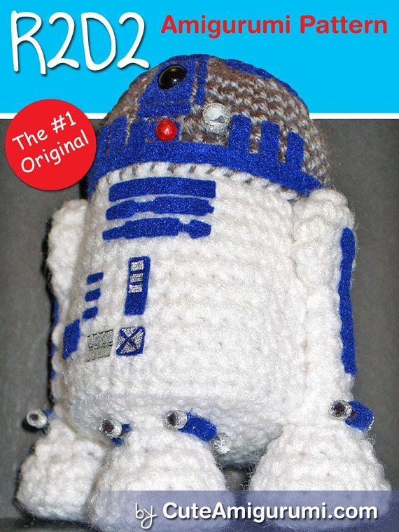 Star Wars R2D2 Amigurumi Pattern by janama on Etsy | Crochet Star ...