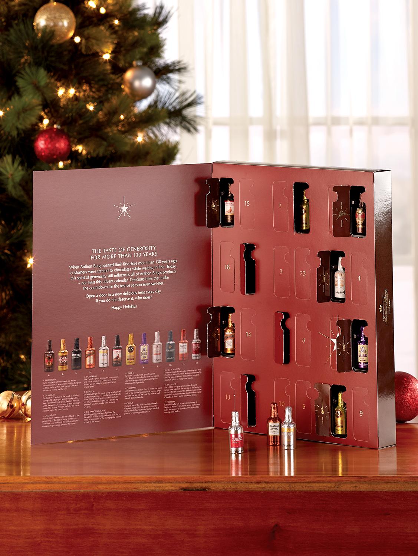 Anthon Berg Dark Chocolate Liqueur Bottle Advent Calendar