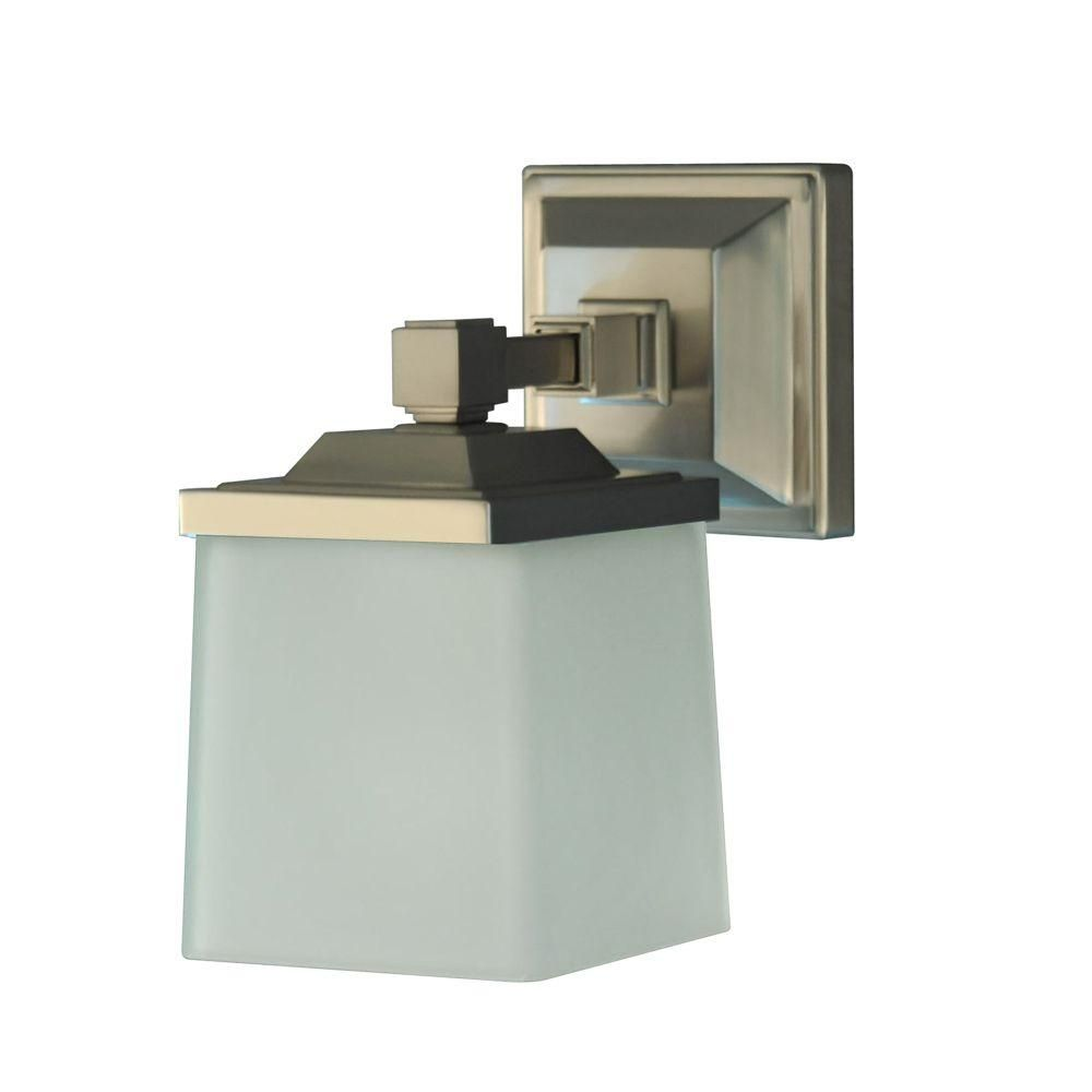 Martha Stewart Living Skylands Collection 1 Light Brushed Nickel Plated Wall Sconce V358NK01