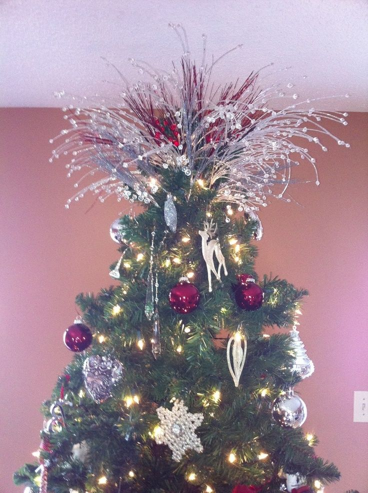 Christmas Tree Topper Fireworks Christmas Pinterest Christmas Tree Toppers Diy Christmas Ornaments Christmas Crafts Decorations