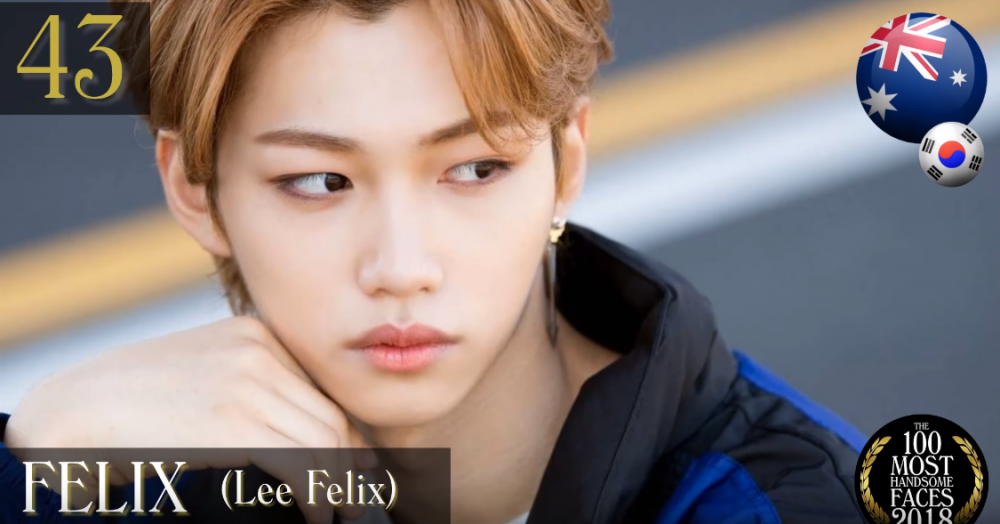 Bts Nct Got7 And More Rank On The 100 Most Handsome Faces Of 2018 Allkpop Stray Kids Felix Lee Felix Handsome Faces Handsome Face