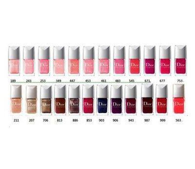 Dior Colors with numbers | Dior Nail Polish | Pinterest | Dior nails ...