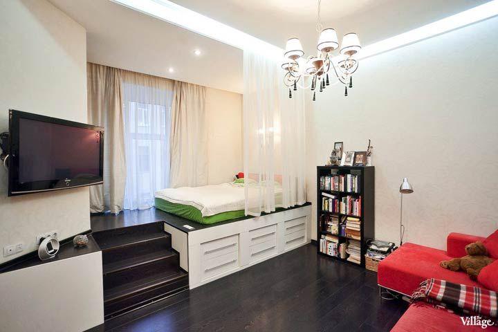 Однокомнатная квартира-студия в Петербурге    http://interiorizm.com/studio-apartment-petersburg