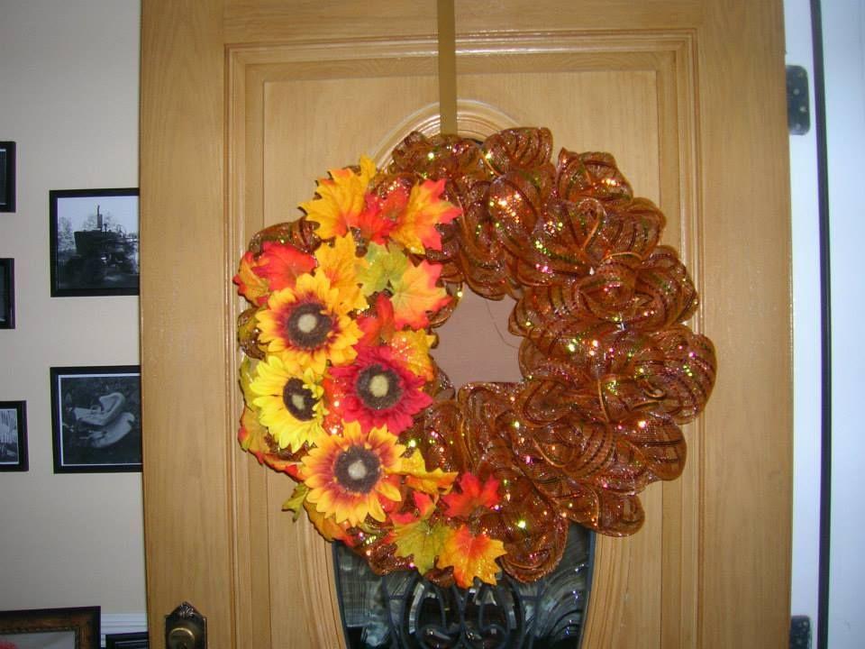 Mesh Wreath -- Fall 2 $40