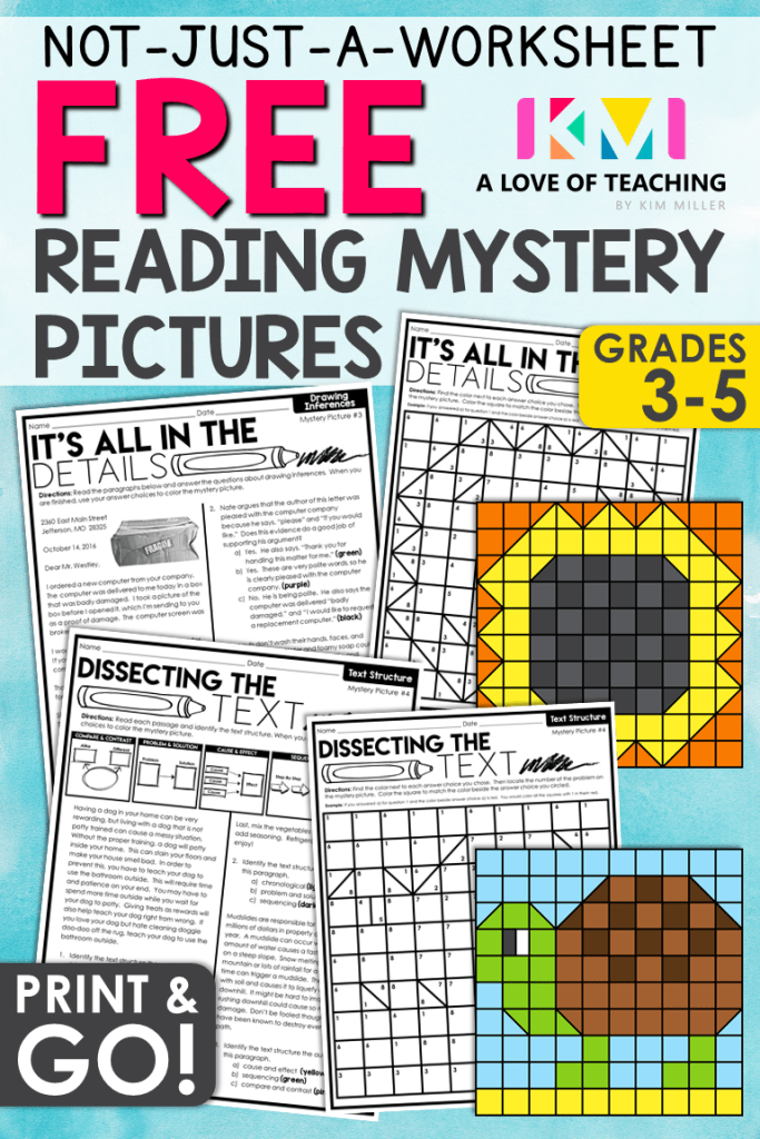 FREE Reading Strategies with Mystery Pictures (With images