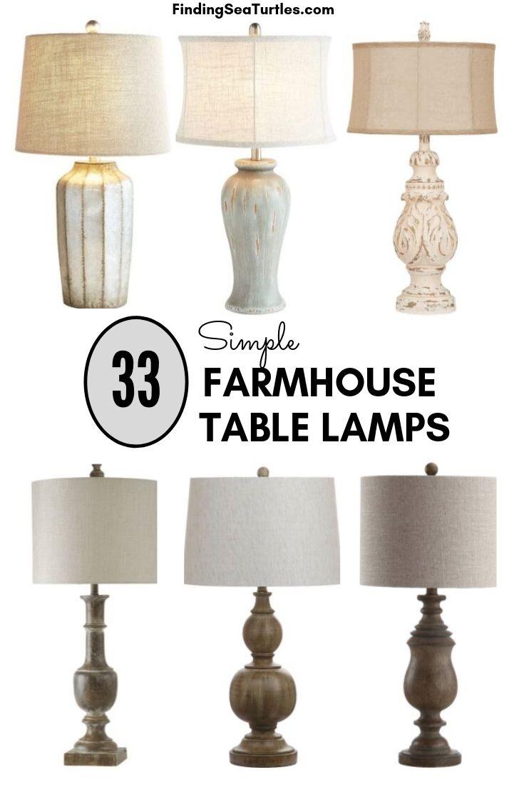 33 Simple Farmhouse Table Lamps Farmhouse Table Lamps Table