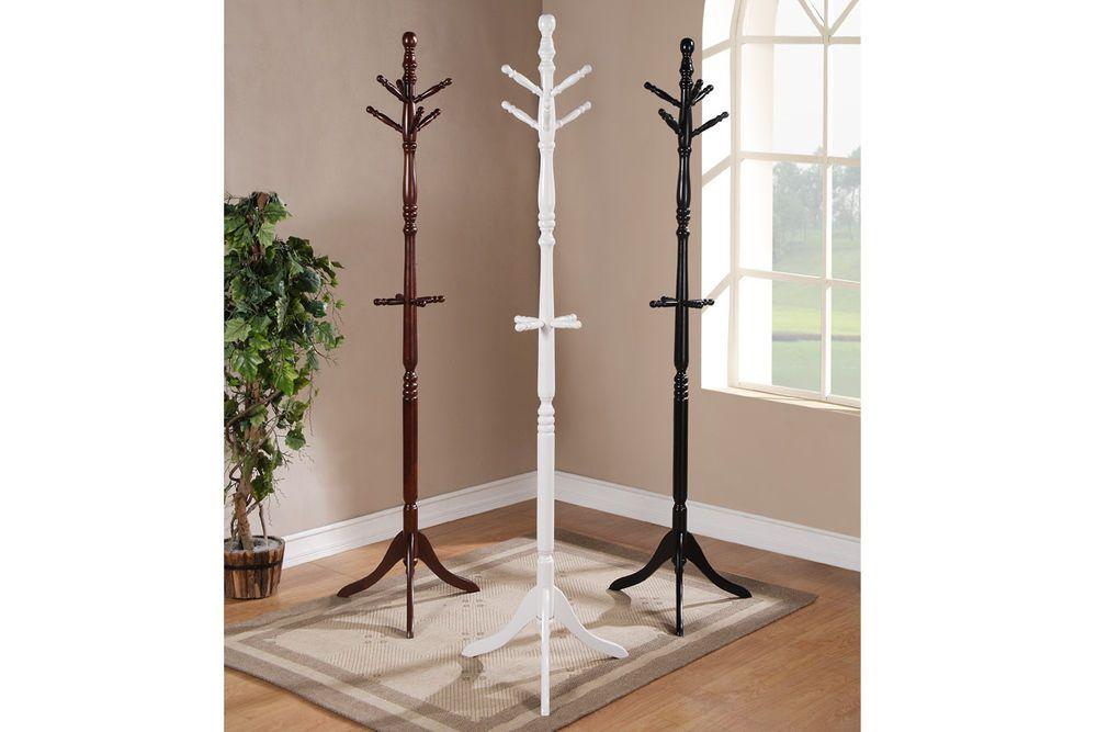 Coat Rack Hat Wood 6 Hooks Clothing Stand Home Office 72 H Cherry White Black Ebay Coat Rack Wooden Coat Rack Hanger Stand