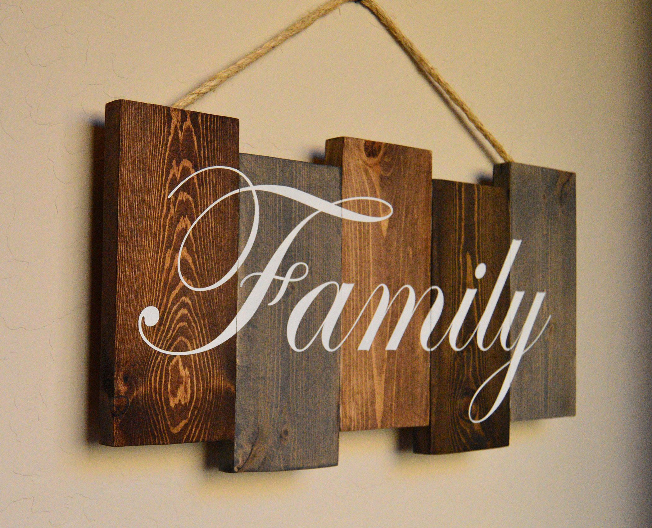 Hand Painted Family Pallet Sign Family Wood Art Wood Pallet Signs Wood Signs Home Decor Pallet Home Decor