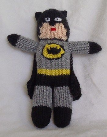 Free Knitting Pattern For Batman Toy And More Super Hero Knitting