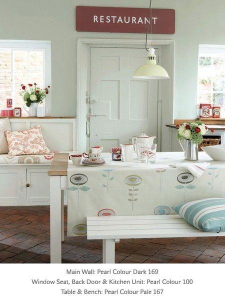Painted Kitchen In Little Greene Paint Colours U0027Pearl Colouru0027, U0027Pearl  Colouru0027 U0027Dark And Pearl Colour Paleu0027.