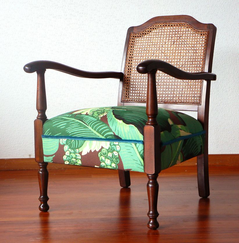 Superior A Gorgeous 1940s Occasional Chair With A Cool Cane Lattice Back.  #retrofurniture #cane