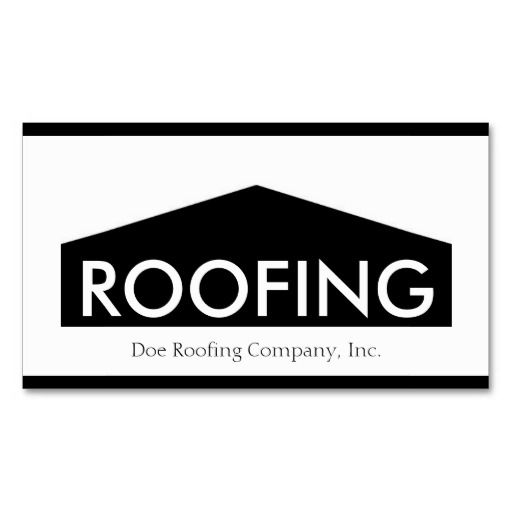 Rooferroofing company bw business card template roofer roofing roofer business cards templates reheart Image collections