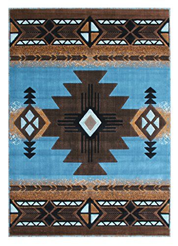 South West Native American Area Rug Design C318 Blue Brow Https