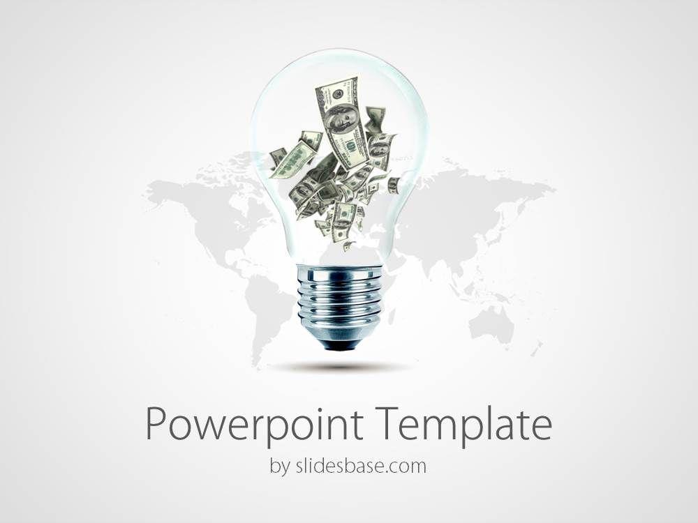 Business Ideas Make Money Light Bulb Dollars Rich Powerpoint