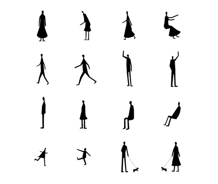 Architecture People Architecture People Drawings Silhouettes Plan