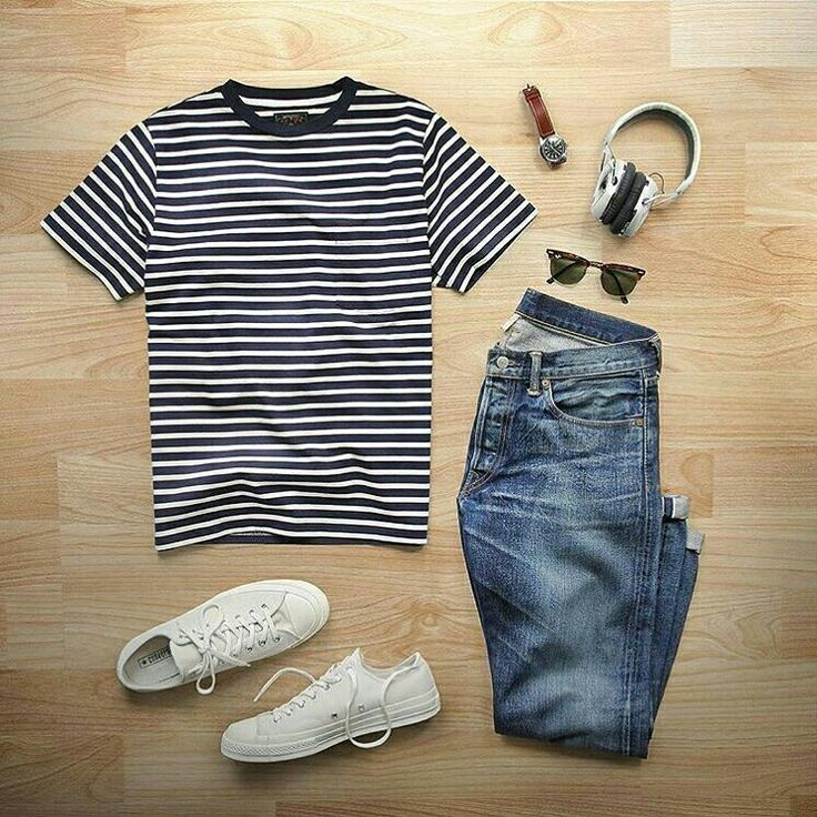 Outfit grid - Classic striped T-shirt & jeans - JOB BECK | Touching and Emotional Photo | Pinslapel #outfitgrid Outfit grid - Classic striped T-shirt & jeans - JOB BECK - #Beck #Classic #Grid #Jeans #Job #Outfit #Striped #Tshirt #outfitgrid
