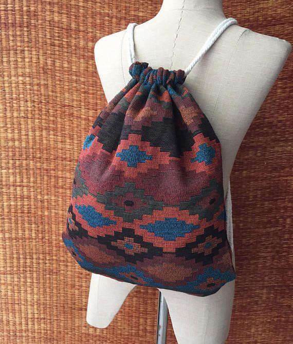 Tribal Backpack Boho Ethnic Aztec Festival bag fashion Rucksack Folk ... 65b4140834