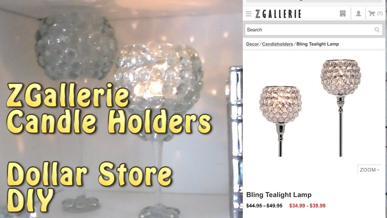 Dollar store diy zgallerie inspired candle holders cup n caskes