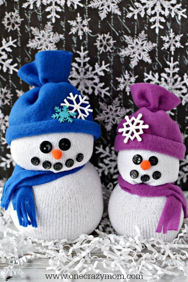 Learn how to make a snowman made