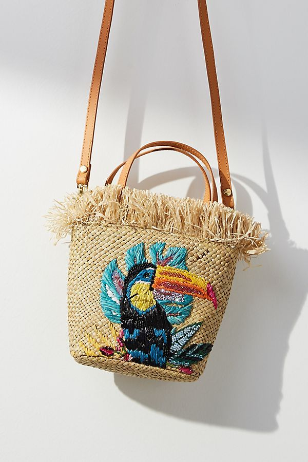 Aranáz Toco embroidered tote WTz1IFur9