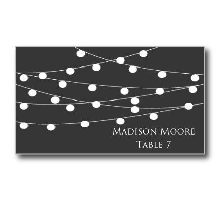 Printable Wedding Place Card Template- - place card template