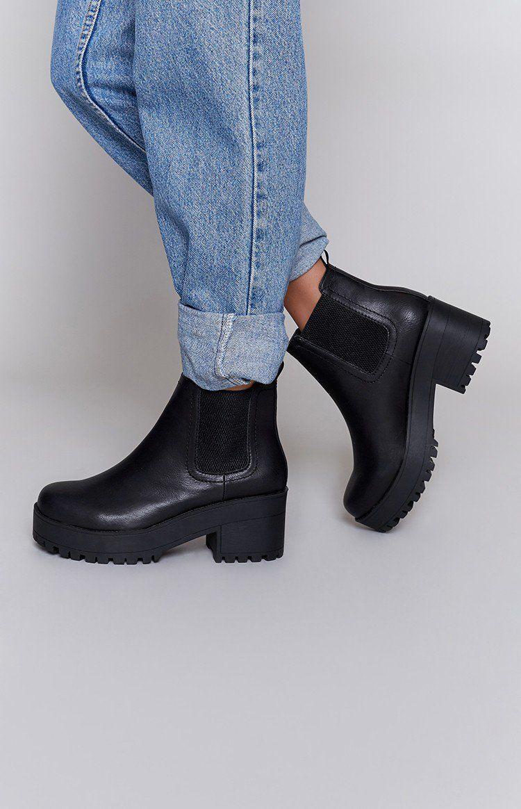 infinity heel boot. lipstik infinity boot black heel