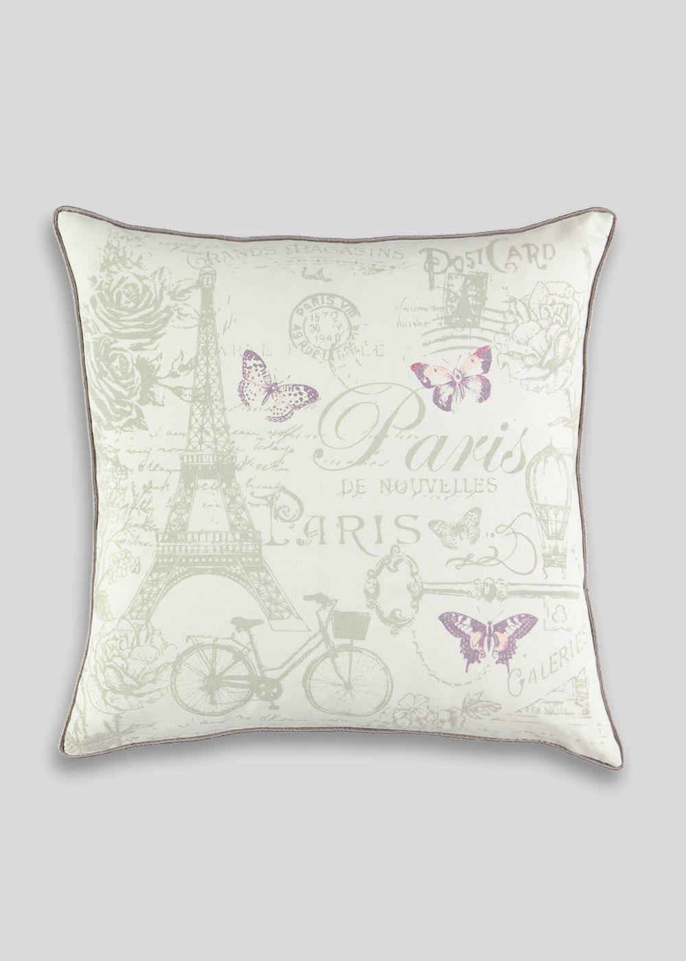 paris printed cushion  48cm x 48cm