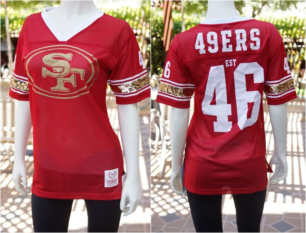 half off 89ff2 6d058 Details about NEW Victoria's Secret Pink SAN FRANCISCO 49ers ...