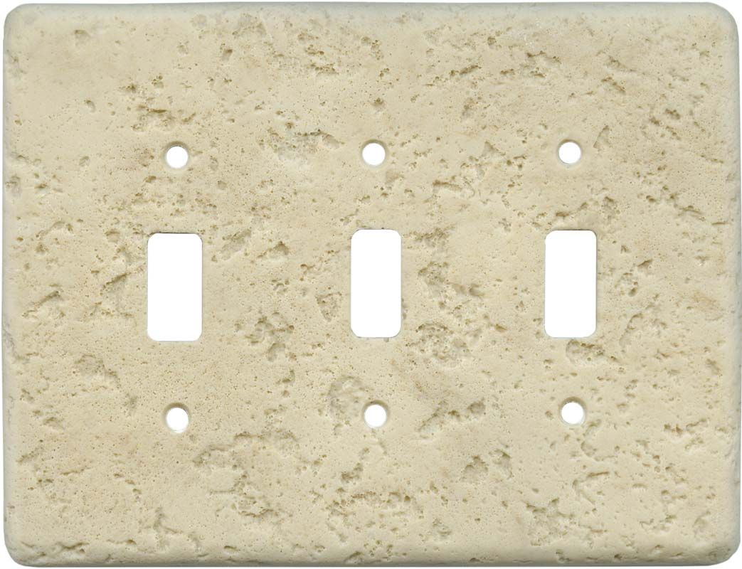 Mocha 3 Triple Toggle Light Switch Cover Plates Wallplates Image