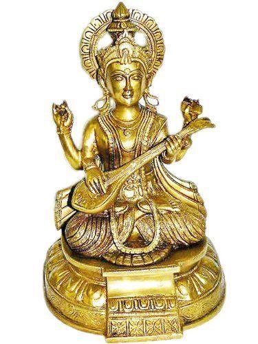 Saraswati Statue Goddess Figurine Idol Hindu Religious Art; Brass;13 Inches by Mogul Interior, http://www.amazon.com/gp/product/B0066L8NZQ/ref=cm_sw_r_pi_alp_IpECqb03F0FAY
