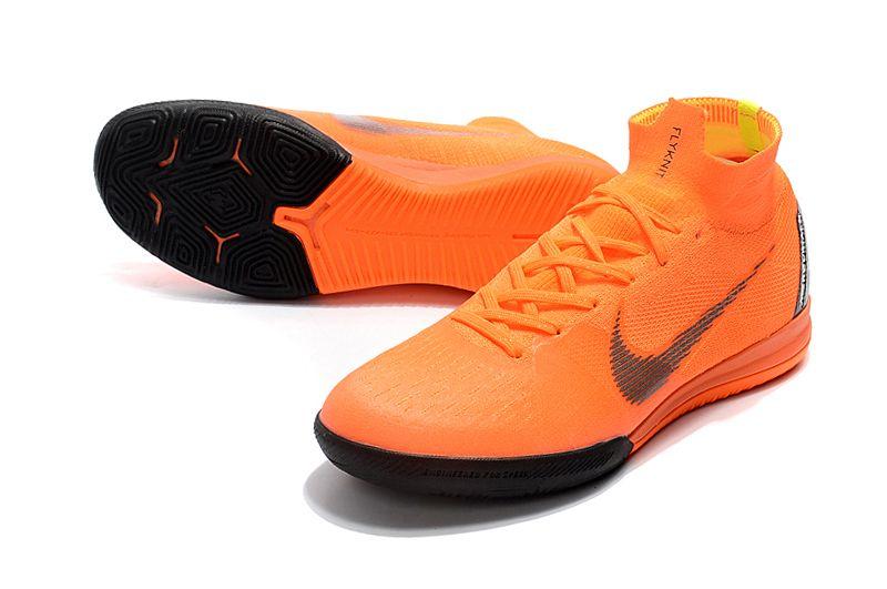 Nk Superflyx 6 Elite Soccer Cleats Orange In 2020 Nike Soccer Cleats Nike Indoor Soccer Cleats