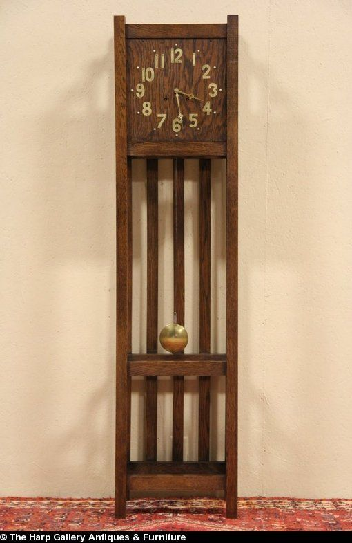 Mission Style Grandfather Clock For Sale