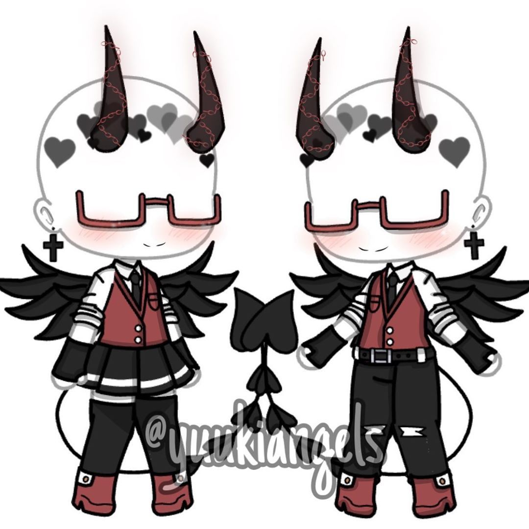 Demon outfits ヘ(-ω-ヘ) (What's your favorite food?) Also give ...