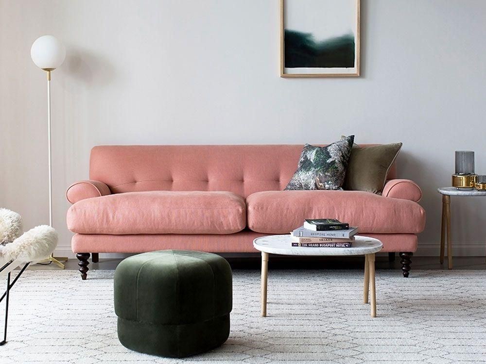 Rosa Couch Francis Sofa In Old Rose | Contemporary Couches ...