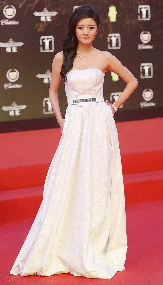 Taiwanese actress Ady An poses on the red carpet for the ...  Ady An 2014