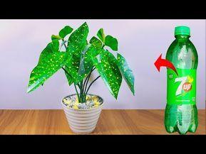 প্লাস্টিক বোতল দিয়ে বাহারি গাছ    Plastic bottle artificial plant for home decoration - YouTube