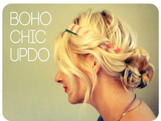This Super Chic Hair Look Is Great Because You Can Dress It Up Or Down In Boho Updo Tutor