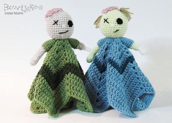 Zombie Lovey Crochet Pattern Instant Download Blankey Blankie