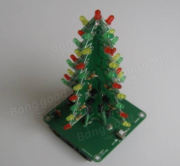 Christmas Tree Led Flash Kit 3d Diy Electronic Learning Kit Christmas Tree Kit Diy Electronics Christmas Tree